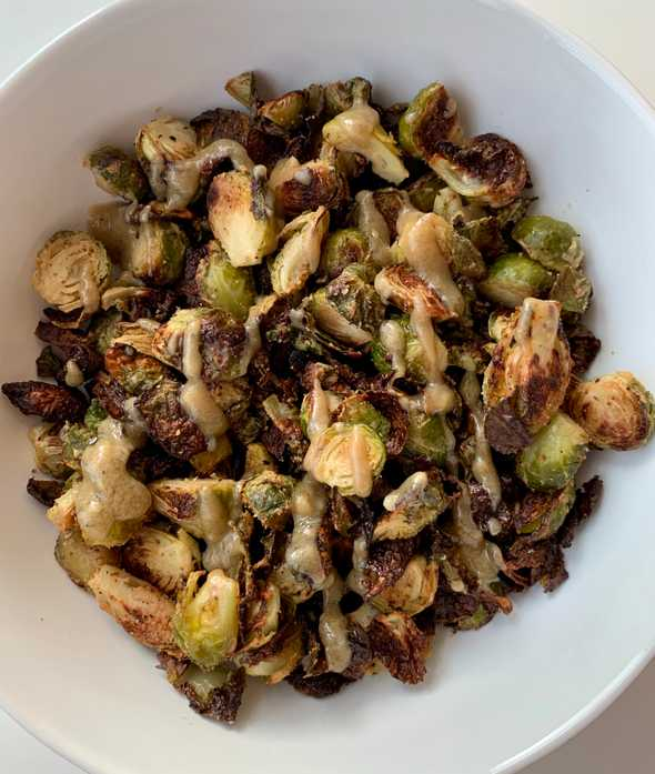 Tahini Maple Brussel Sprouts